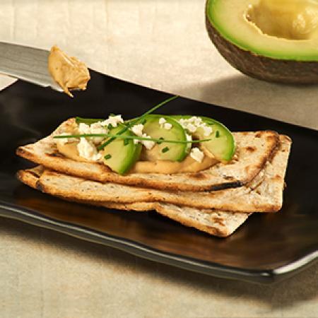 Salmas with Hummus and Avocado