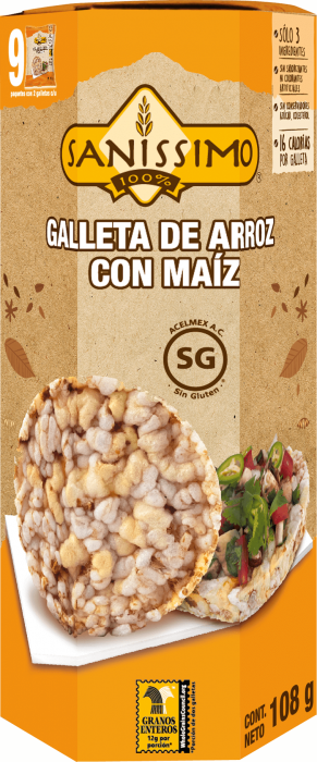 Galleta de Arroz con Maíz