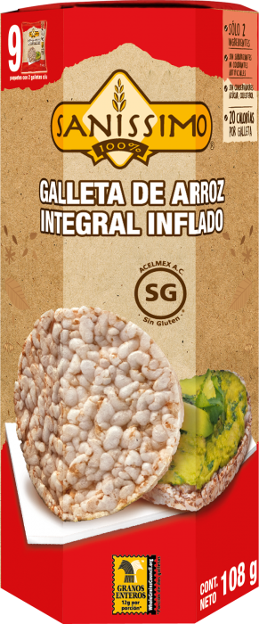 Galleta de Arroz Integral
