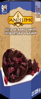 Galleta de Arroz con Chocolate y Arándano