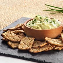Salmitas with Avocado & Greek Yogurt Dip