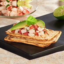 Salmas with Fish Ceviche