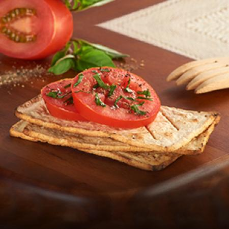 Salmas with Tomato and Basil