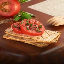 Salmas with Tomato and Basil